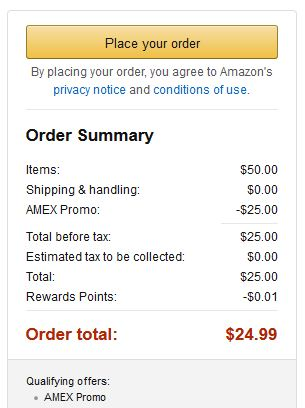 Targeted Get 25 Off 50 At Amazon With American Express