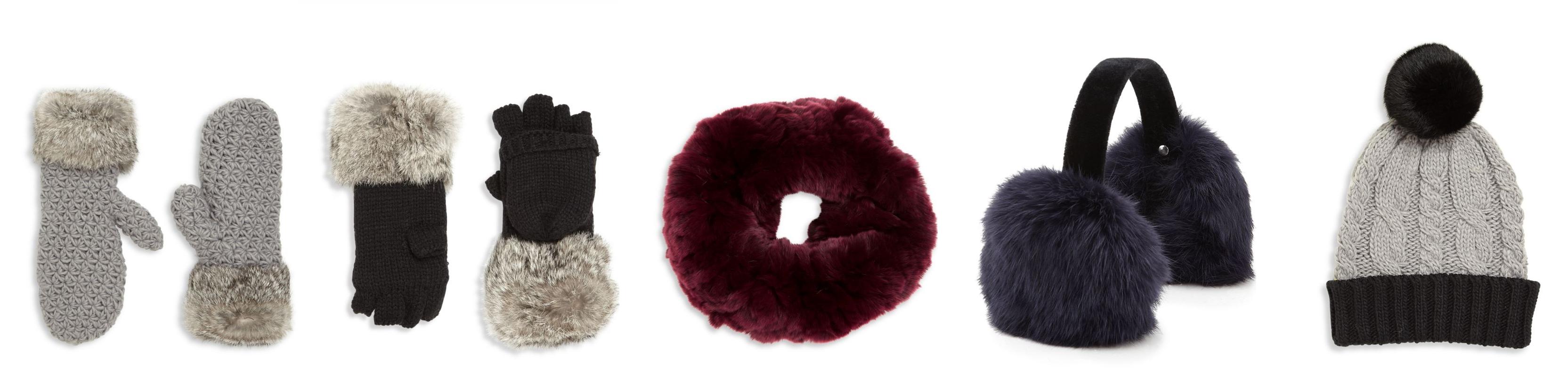 306c31d909d Surell Girl s Rabbit Fur Mittens