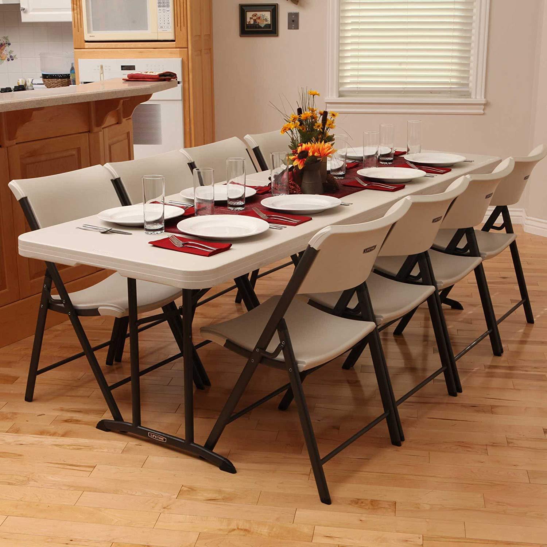 Flash Furniture 30u201dW X 96u201dL Bi Fold Granite White Plastic Folding Table U2013  Link