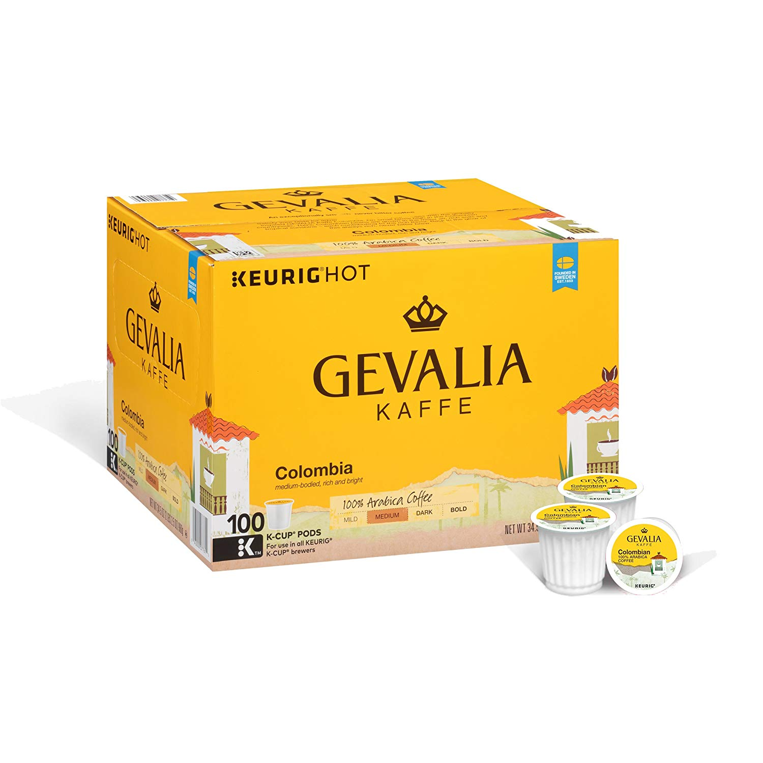 Gevalia Colombia Coffee, K-CUP Pods, 100 Count Only $24.21